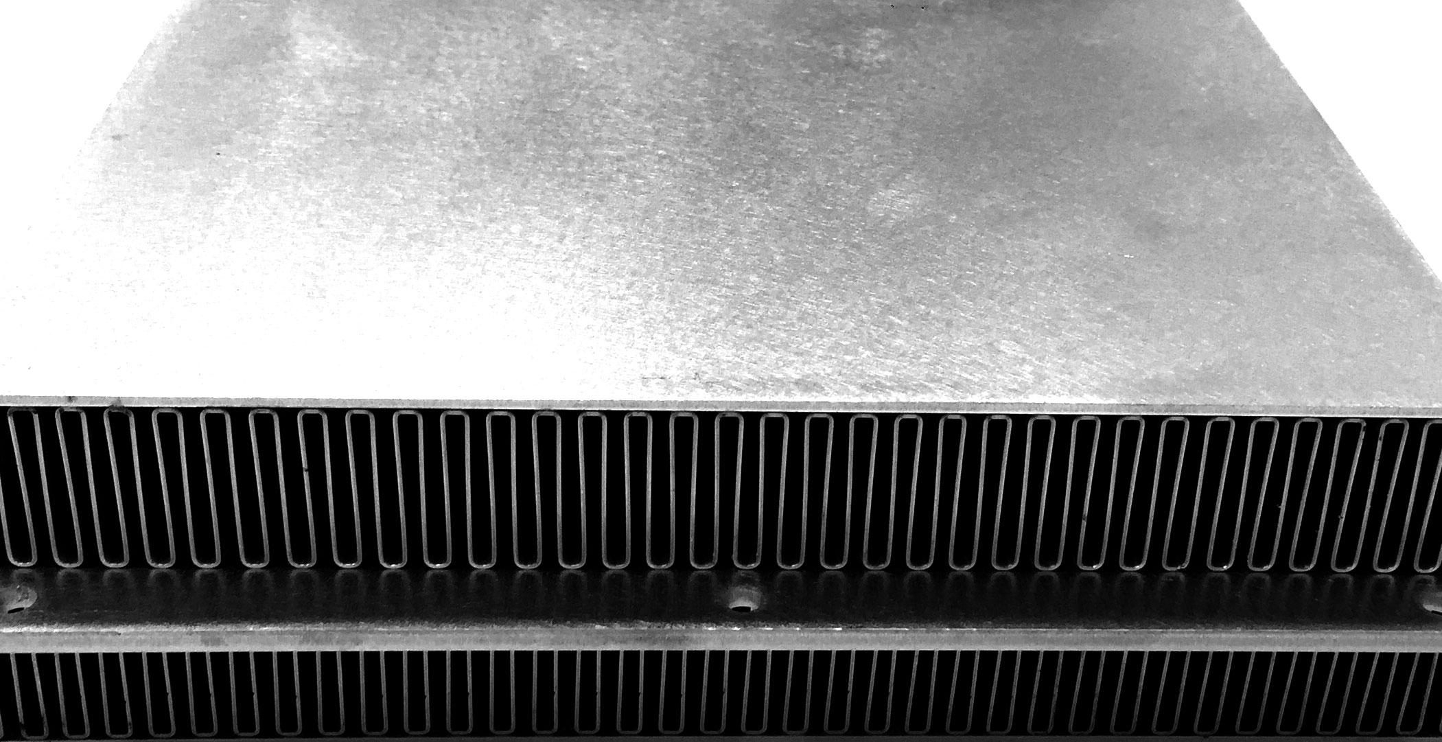 Folded Fin Heat Exchanger Bluecore